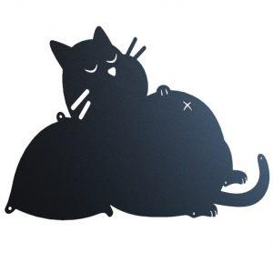 Толстый кот - DXF макет таблички на дом для ЧПУ лазерного станка